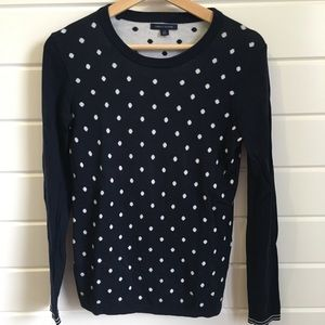 Tommy Hilfiger Crew Neck Polka Dot Sweater